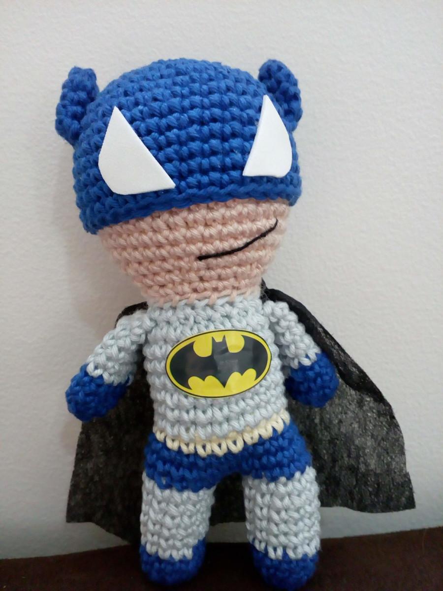 Batman de crochê passo a passo: Amigurumi com receita em 2020 ... | 1200x900