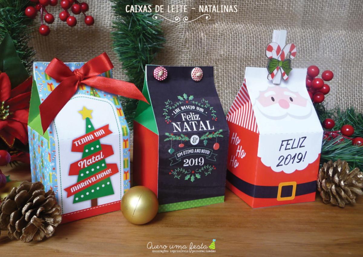 Caixas De Leite De Natal Para Imprimir No Elo7 Quero Uma Festa