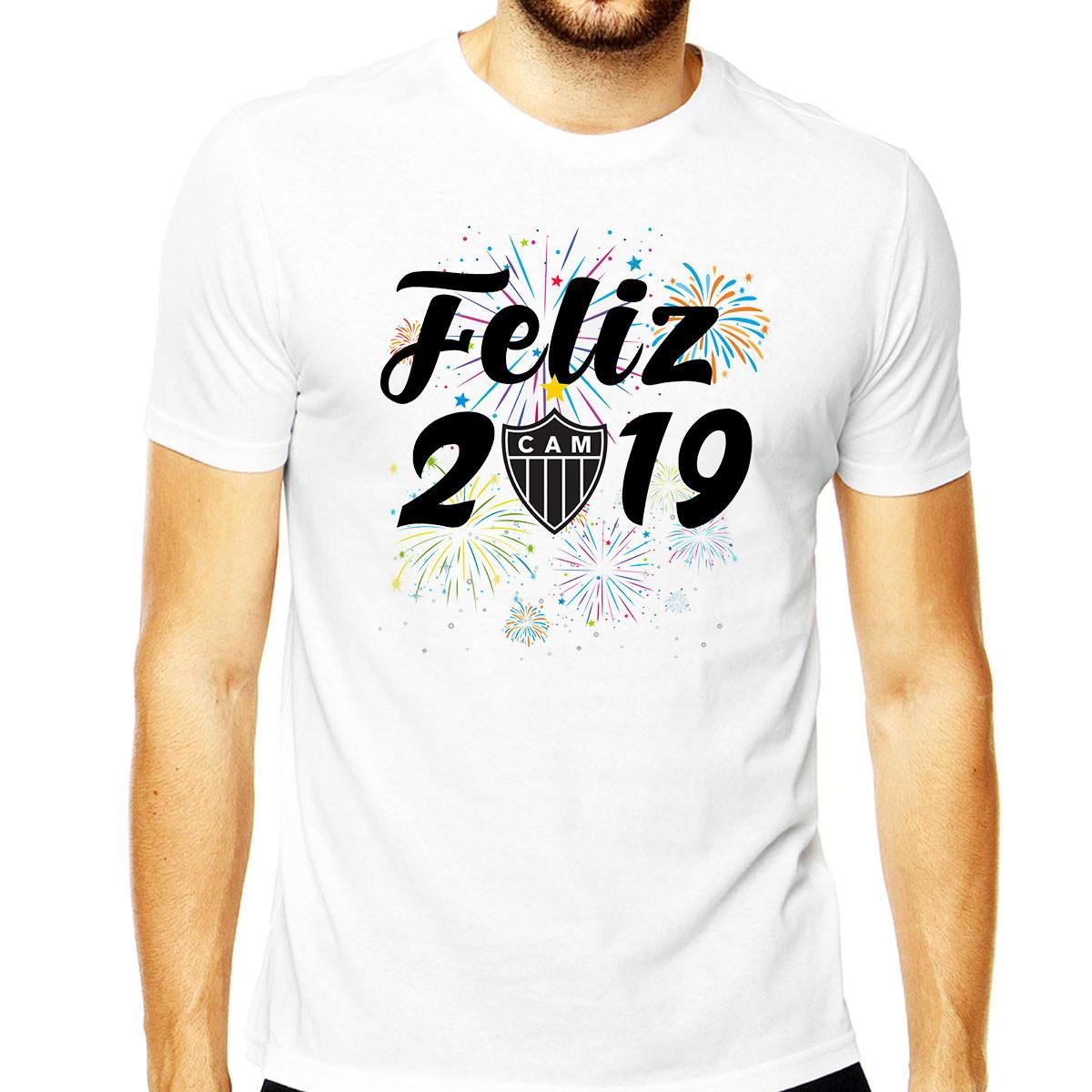 93bfdf9f14 Camiseta Masculina Feliz 2019 Time Atlético Mineiro Camisa no Elo7 ...