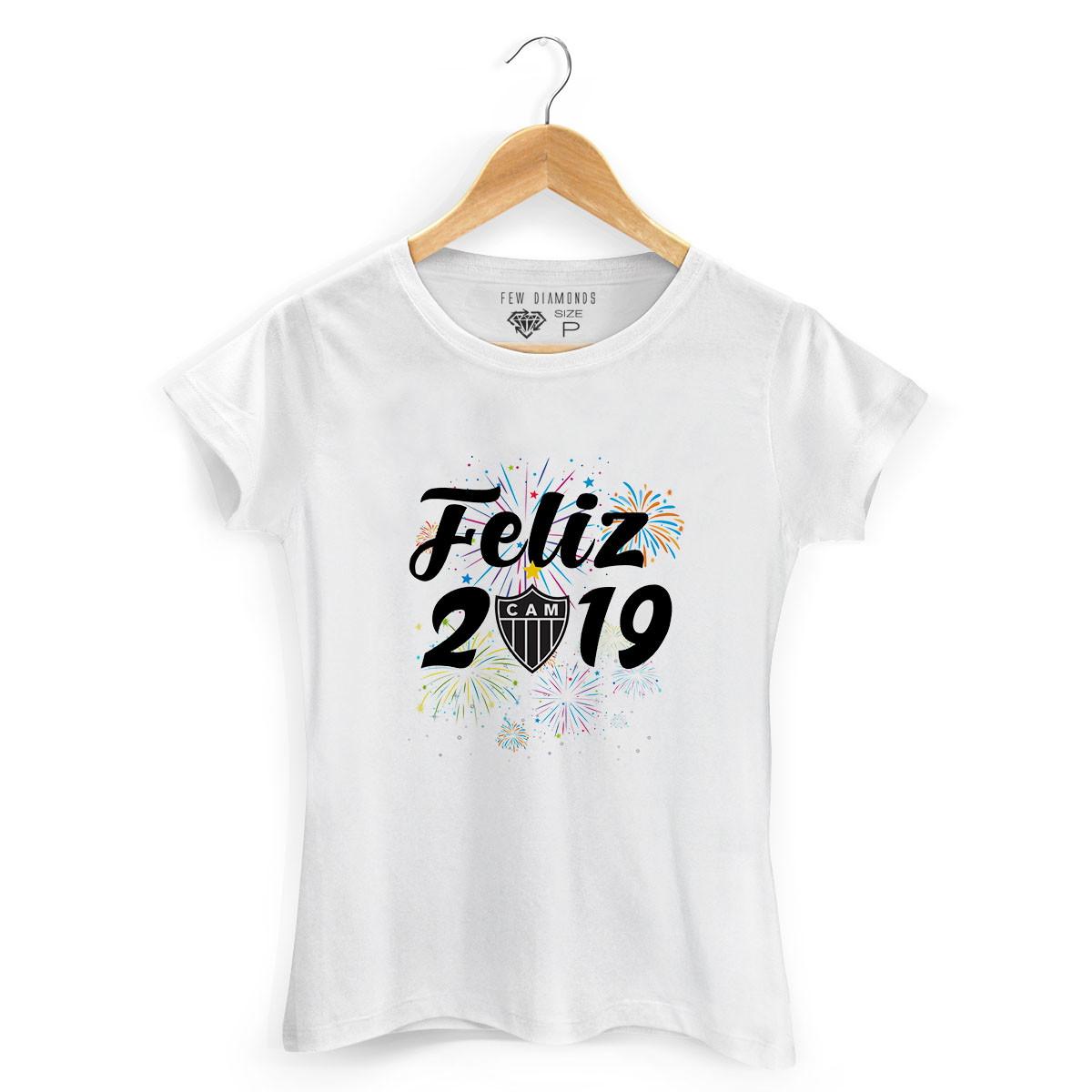 3f33c0bf37 Camiseta Feminina Feliz 2019 Time Atlético Mineiro Camisa no Elo7 ...