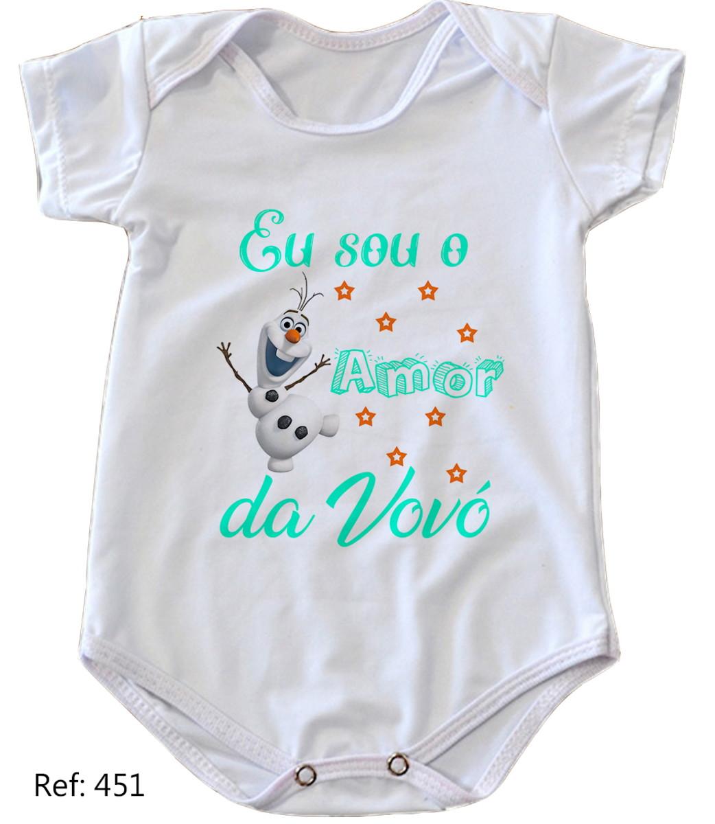 0e8abe221 Body de bebê personalizado sou o amor da vovó no Elo7 | KAROL ...
