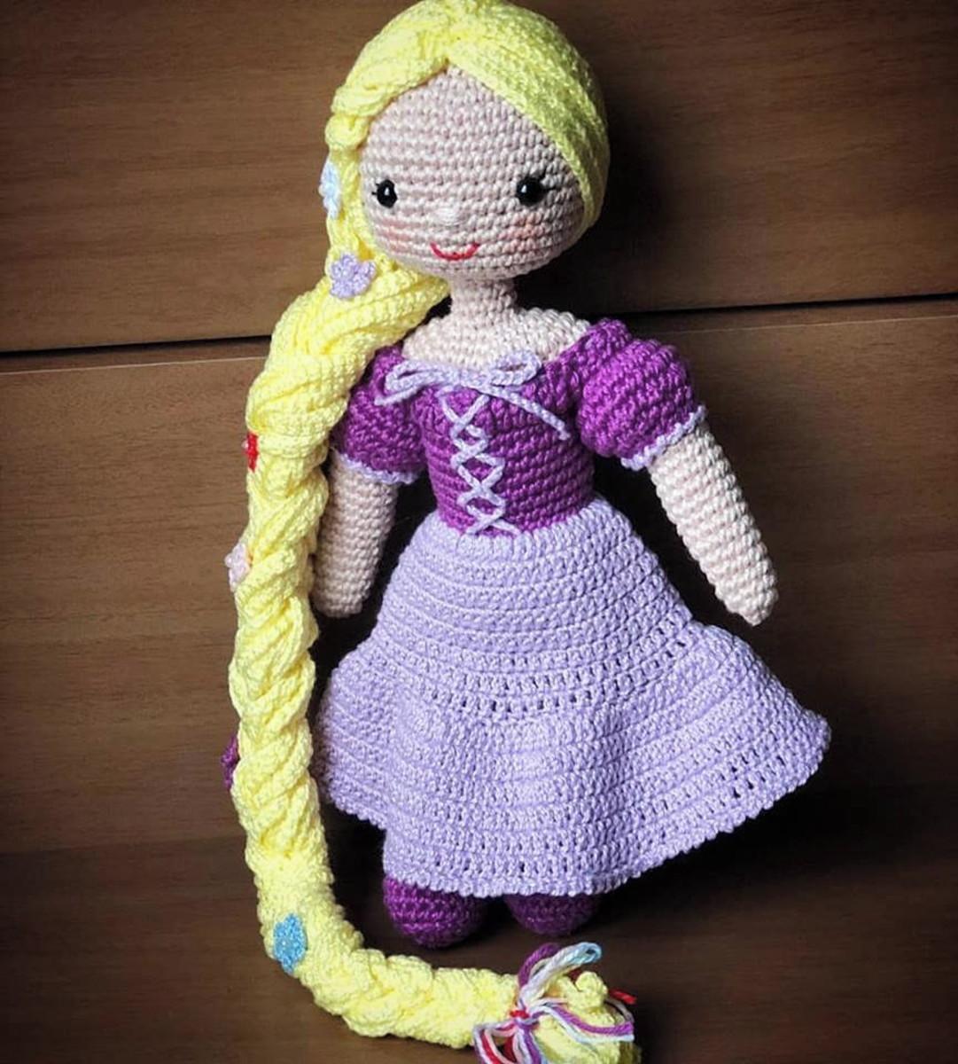 Rapunzel Princess Crochet nursery decor Rapunzel amigurumi | Etsy | 1200x1081