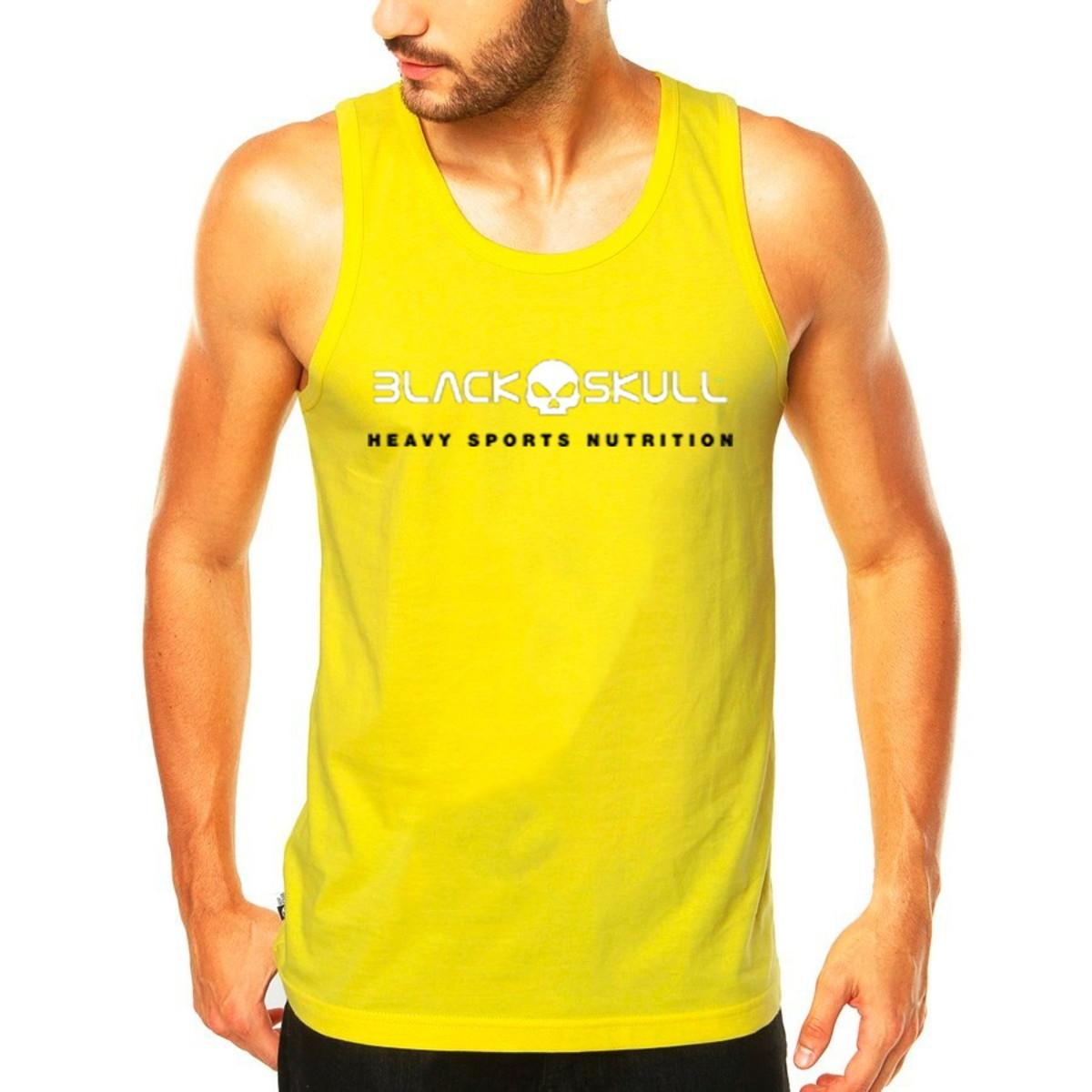 df4644319a Camiseta Regata Black Skull Heavy Sports Nutrition no Elo7