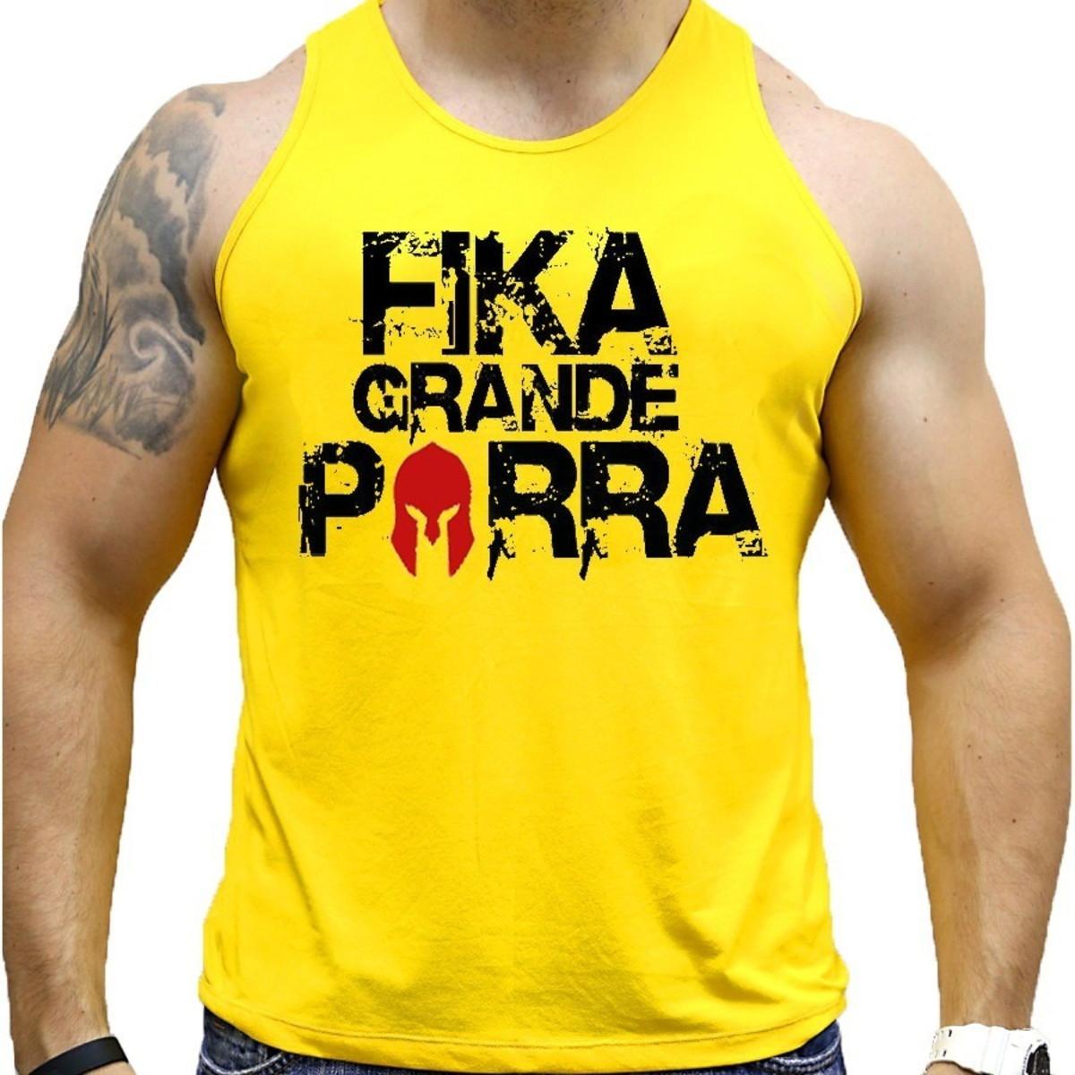 1e63bb809 Camiseta Regata Fika Grande Porra no Elo7