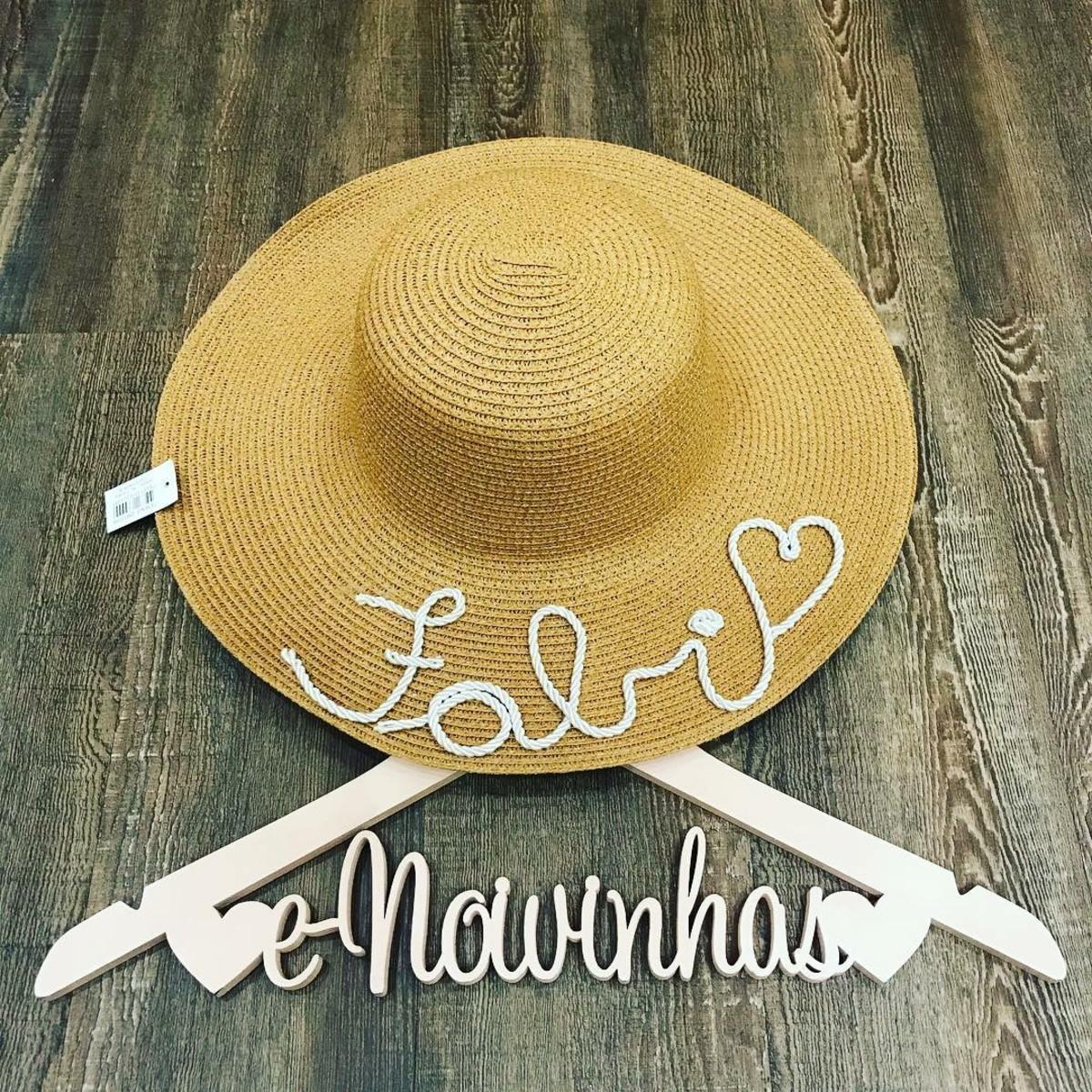 Chapéu Personalizado de Palha no Elo7  40188254d70
