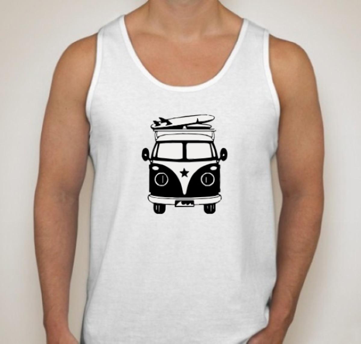 Camiseta Regata Combi Pirua Surf no Elo7  86c23a0a624
