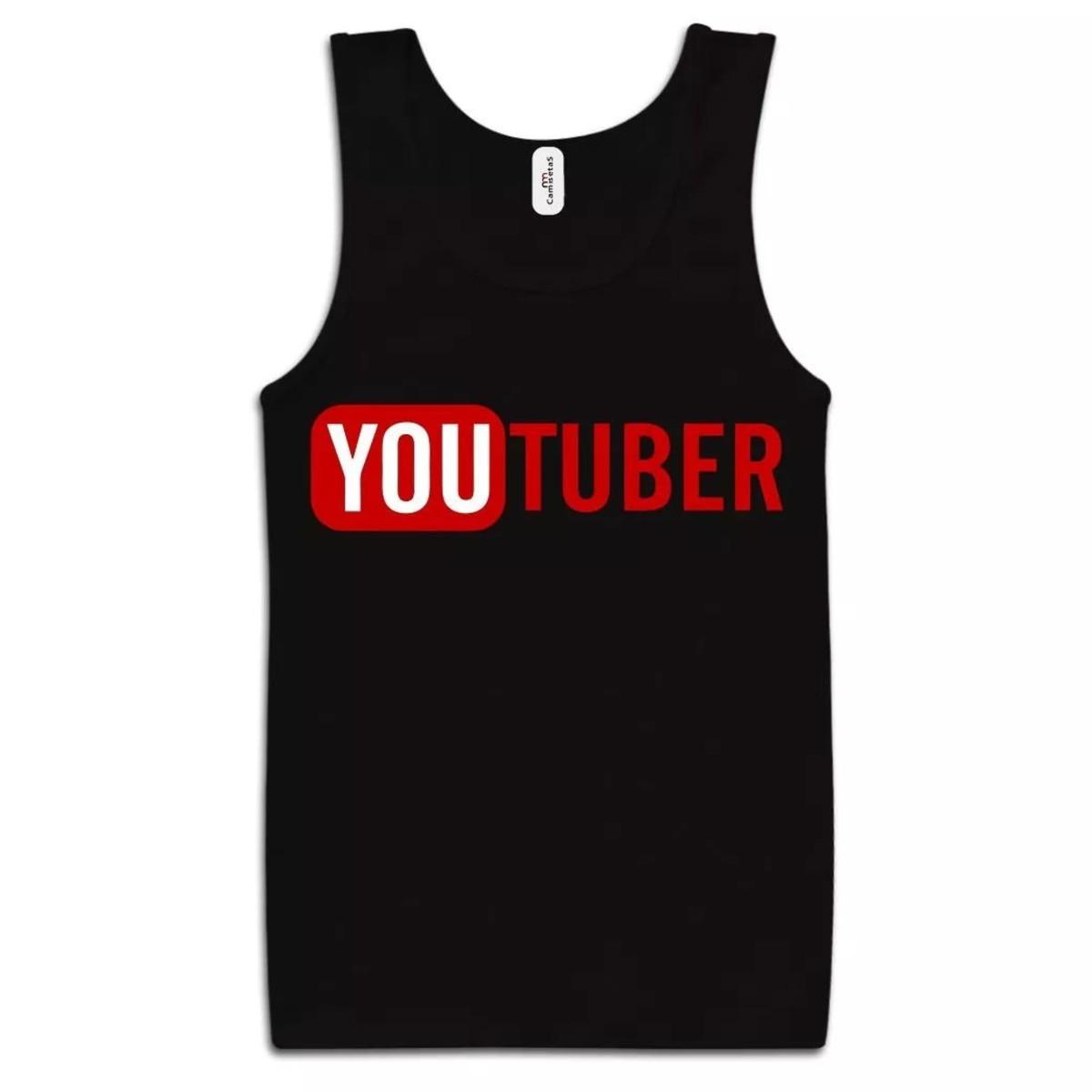 1b31119d70 Camiseta Regata Youtuber 100% Algodão no Elo7