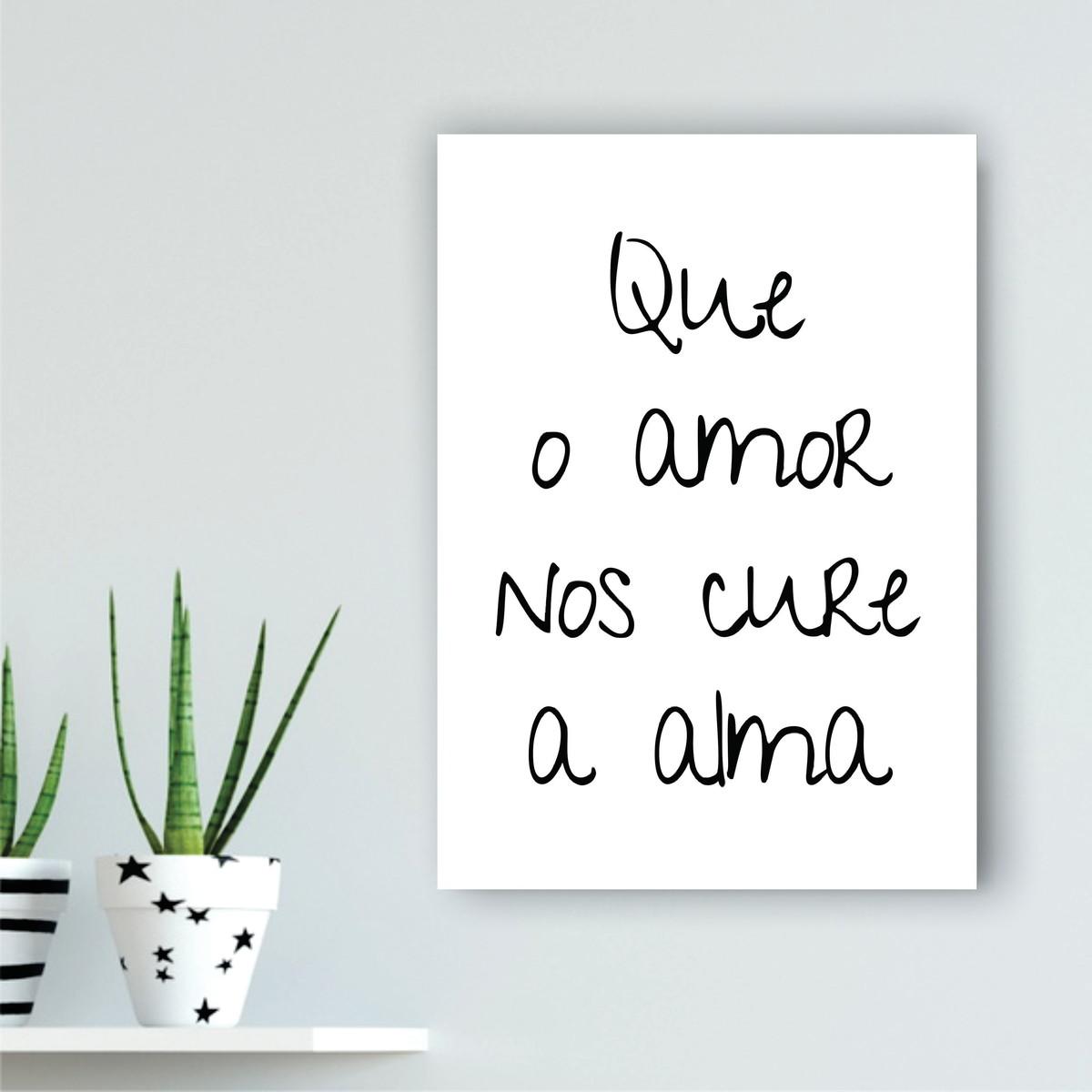 poster que o amor cure tamanho a4 no elo7 wood design quadros c5079e