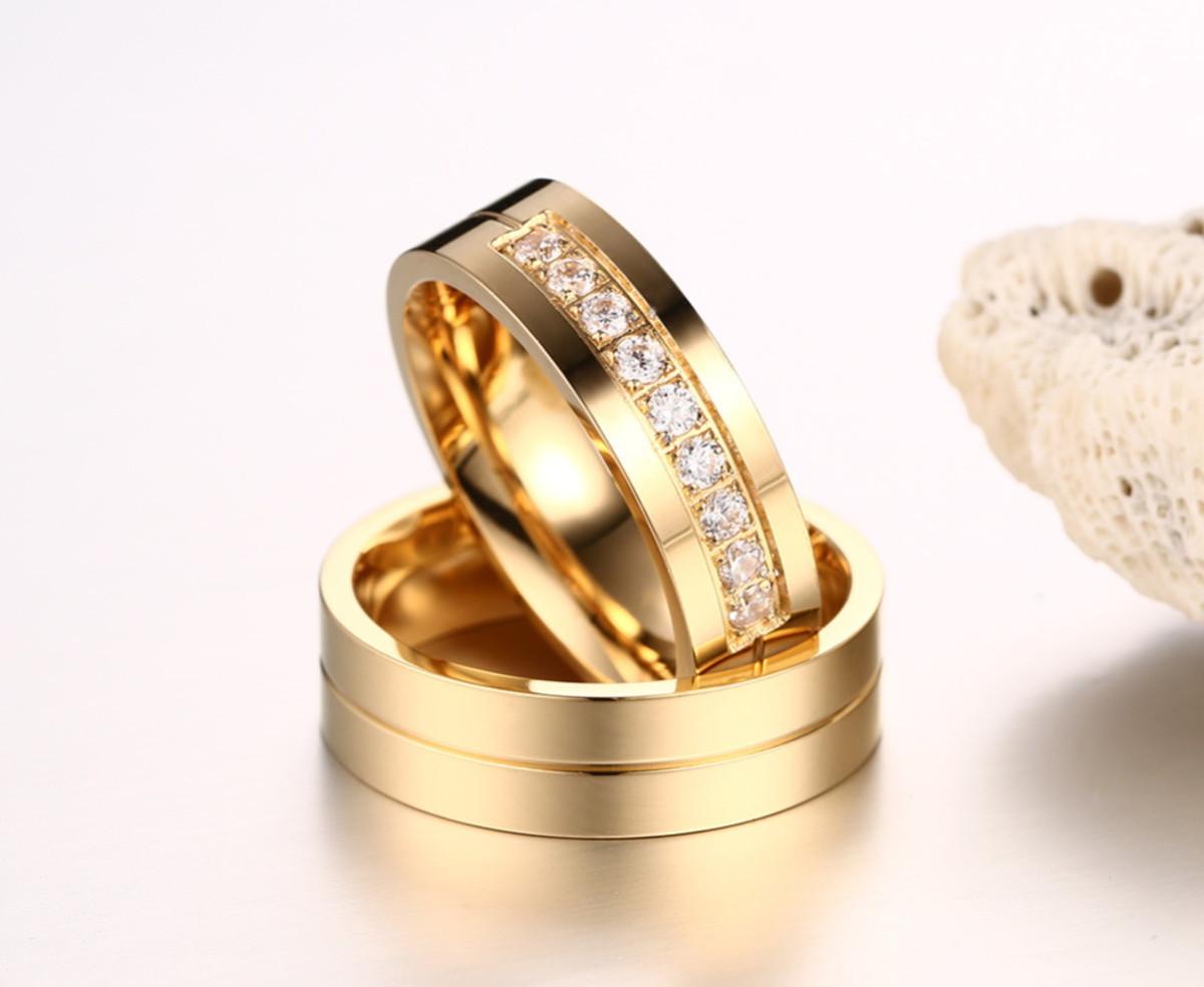 842b362d6b8 Par De Alianças 6mm Casamento noivado banhada ouro 18k no Elo7 ...