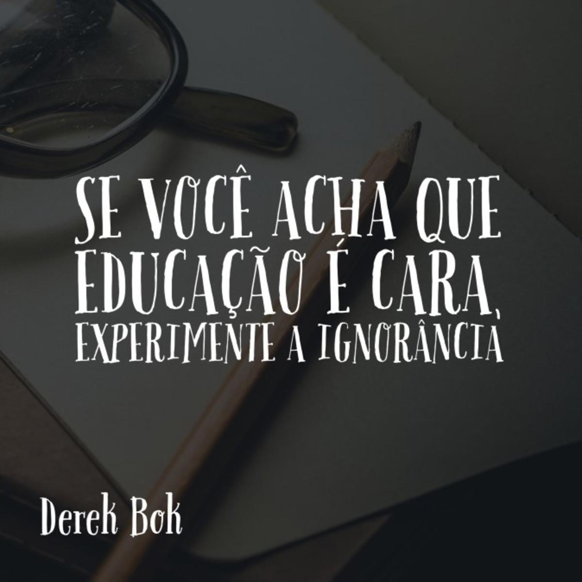 Quadro A Educação Por Derek Bok