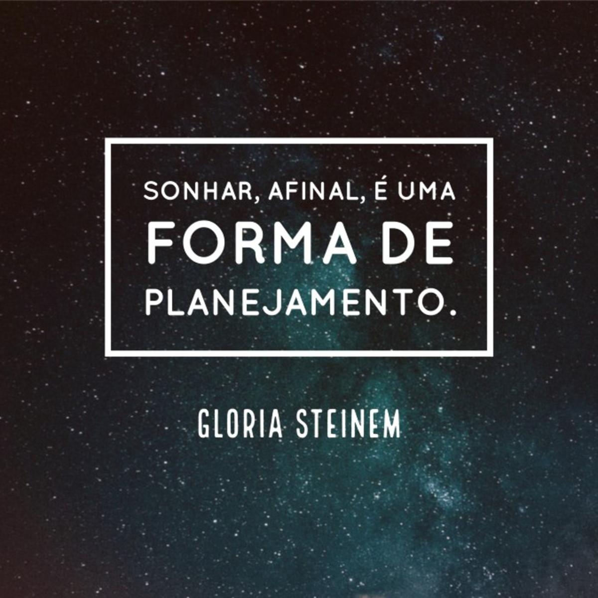 Quadro Forma De Planejamento Por Gloria Steinem