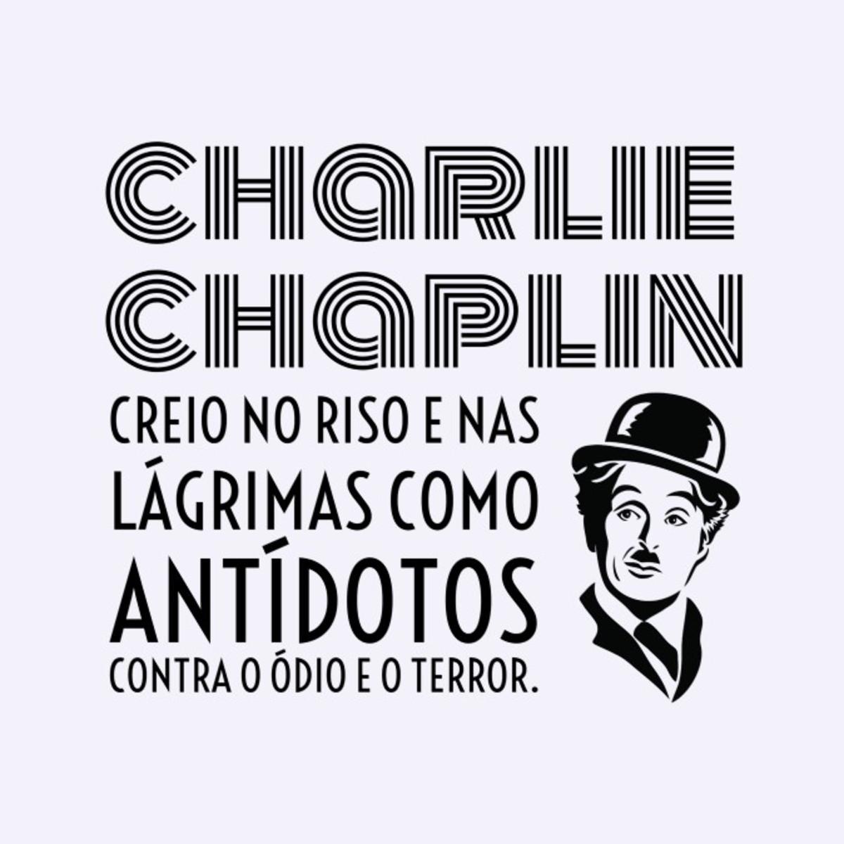 Quadro O Poder Do Sorriso Por Charlie Chaplin