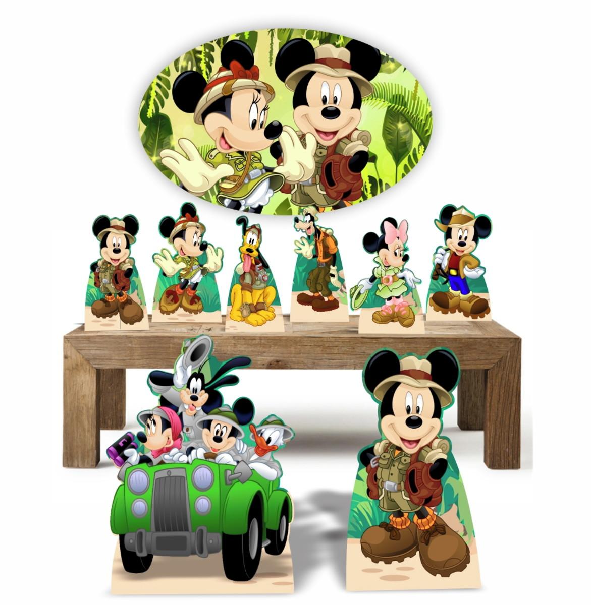 Mickey Safari Kit com 8 Displays + Placa Elipse 67 cm no Elo7 ... 3059b765a17b4