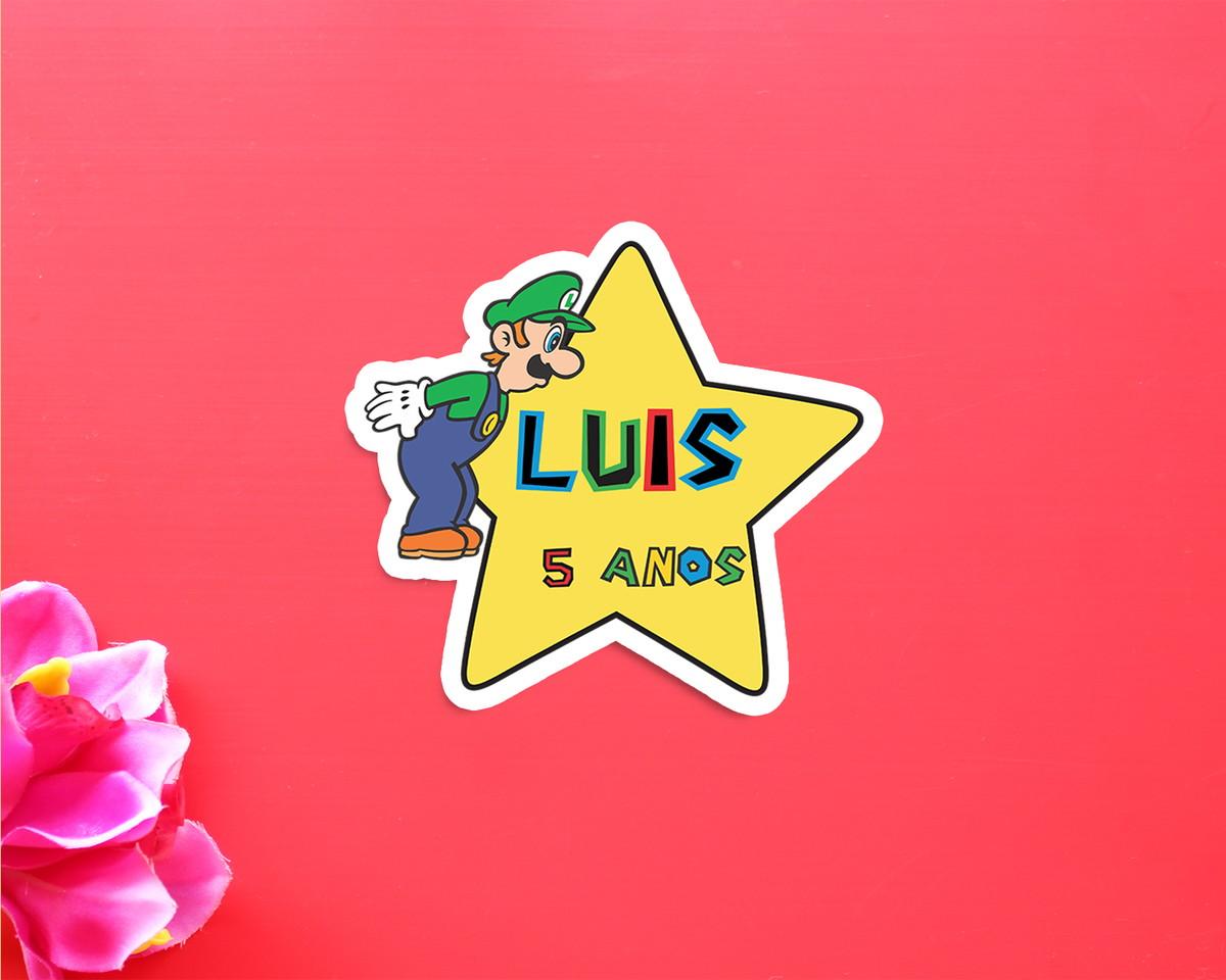 c470a57feb855 Aplique adesivo tag com texto - Super Mário Bros no Elo7   A Carol ...