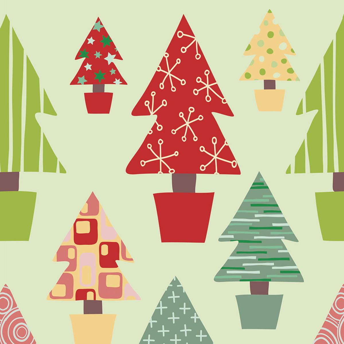 Papel Parede Arvores De Natal Coloridas Sob Fundo Variados No Elo7