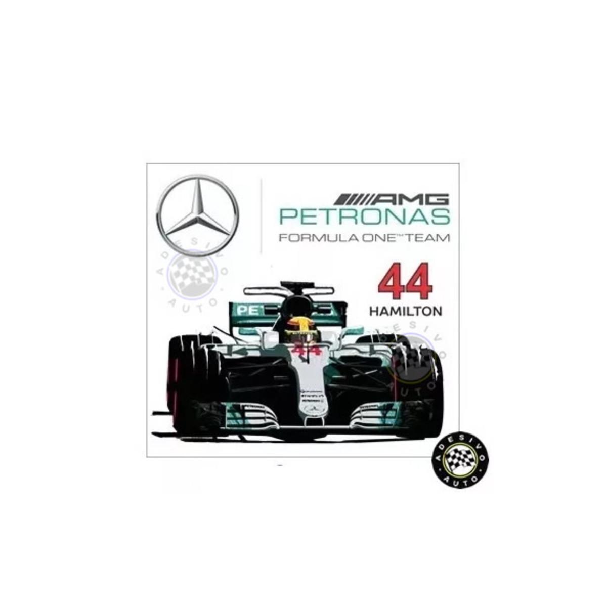 Adesivo Lewis Hamilton 44 Mercedes Petronas F1 W08 Formula 1 no Elo7 ... fab4763766581
