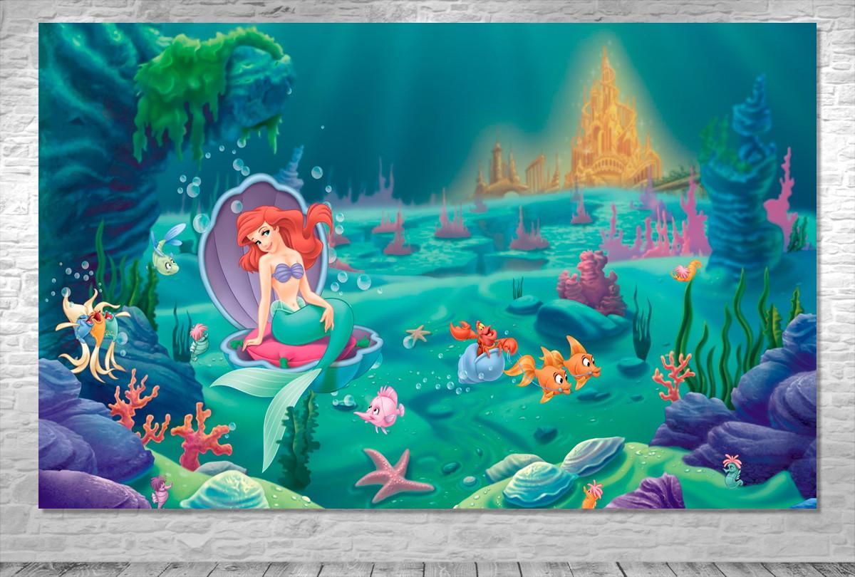 Painel Pequena Sereia Ariel Frete Gratis No Elo7 One Artes De1159