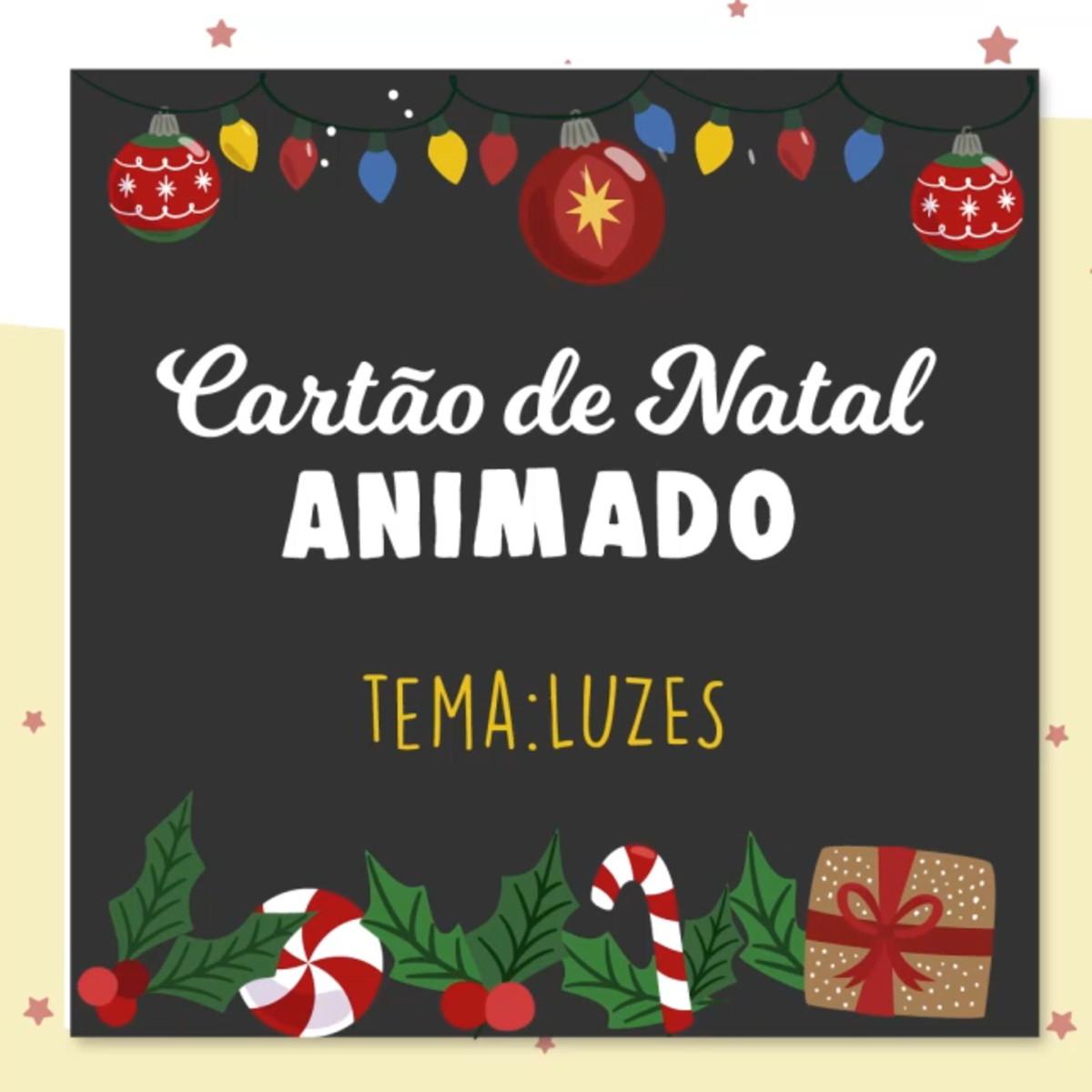 Cartao De Natal Animado Animacao 2d Tema Luzes No Elo7