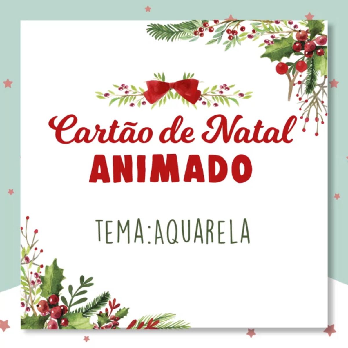 Cartao De Natal Animado Animacao 2d Tema Aquarela No Elo7