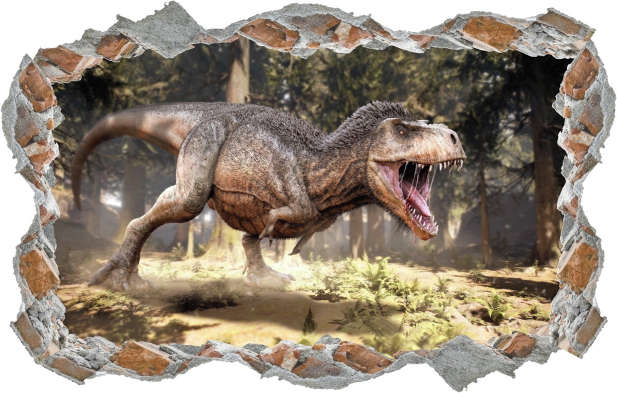 7f04b3fa2 Adesivo Buraco Dinossauro Dino Rex Alta Resolução Lindo 3d no Elo7 ...