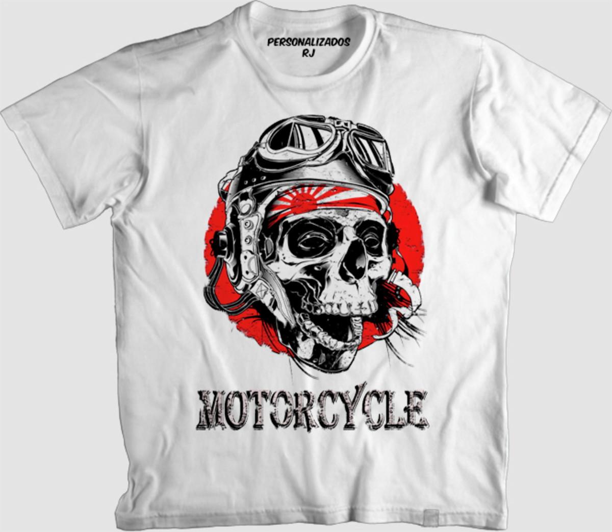 Camisa CAVEIRA DE MOTOCICLISTA JAPONÊS no Elo7  3c5935f417e