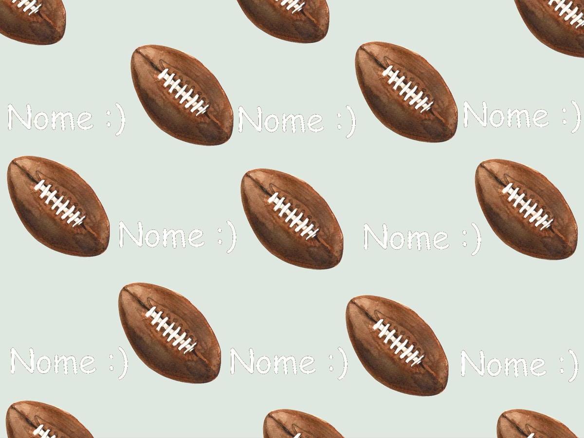 80551e3c0 Manta Personalizada Para Bebê Futebol Americano no Elo7