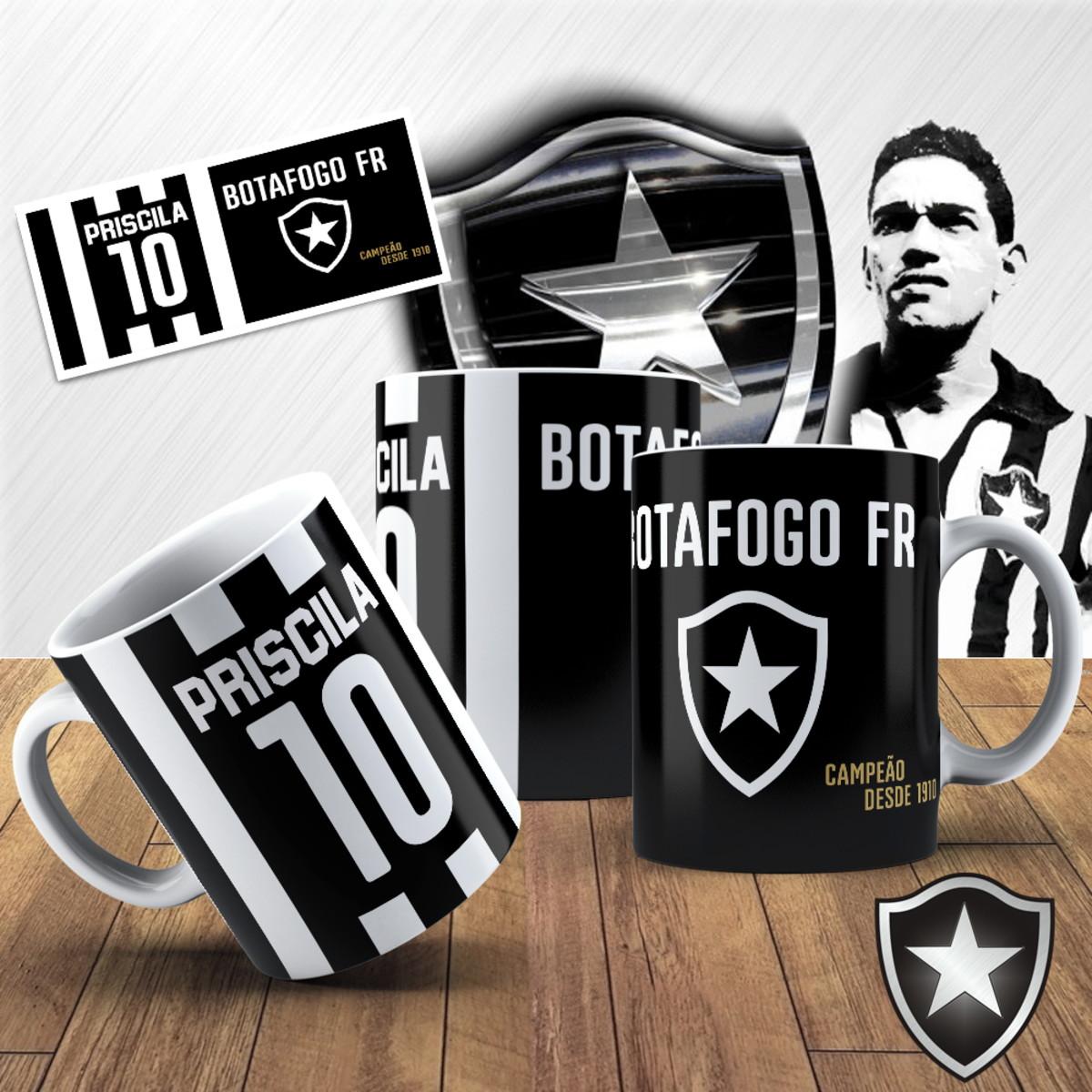 ee36c108d7 Caneca Porcelana Botafogo no Elo7