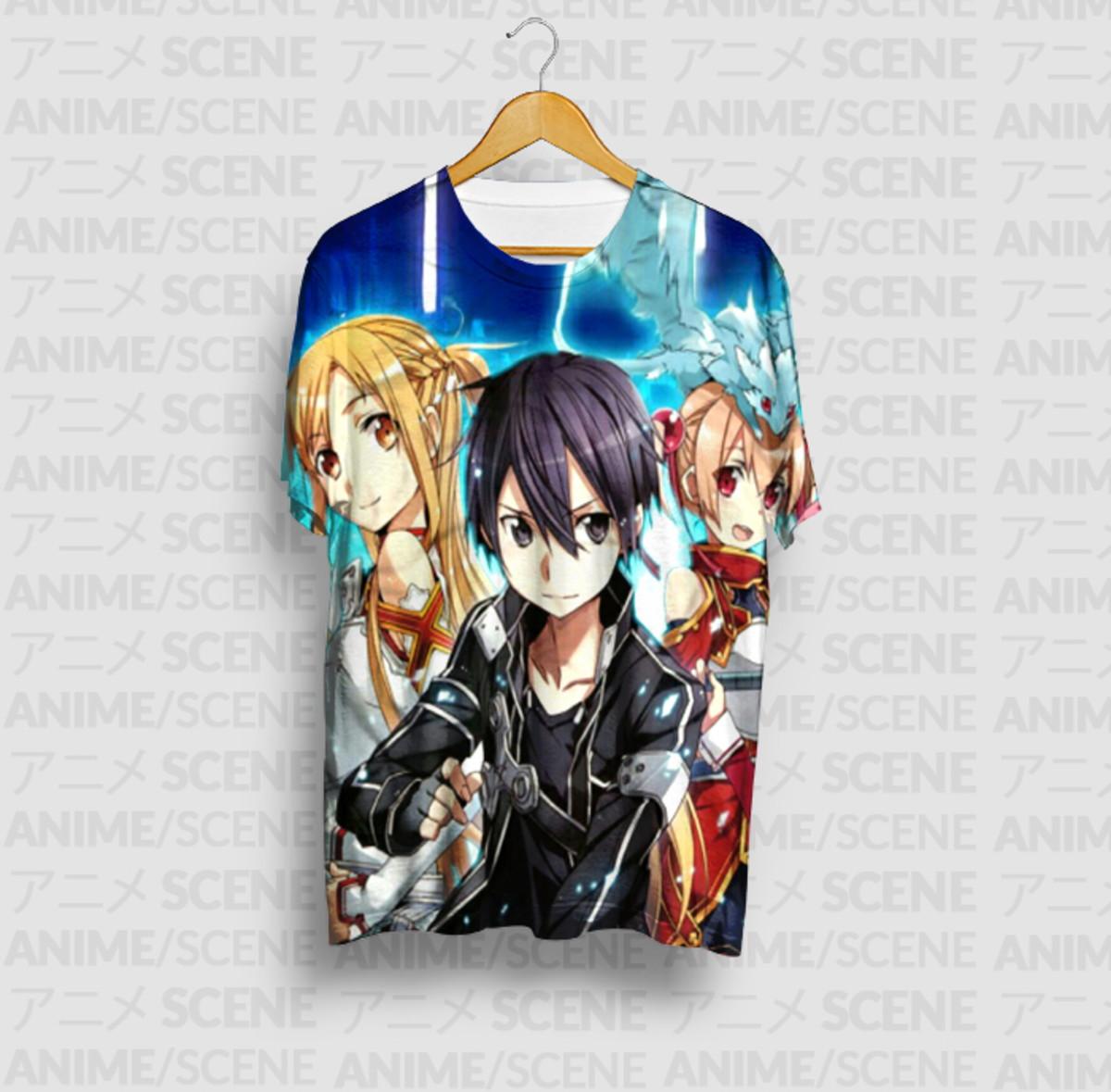 d1211049c Camiseta Trio -Sword Art Online no Elo7