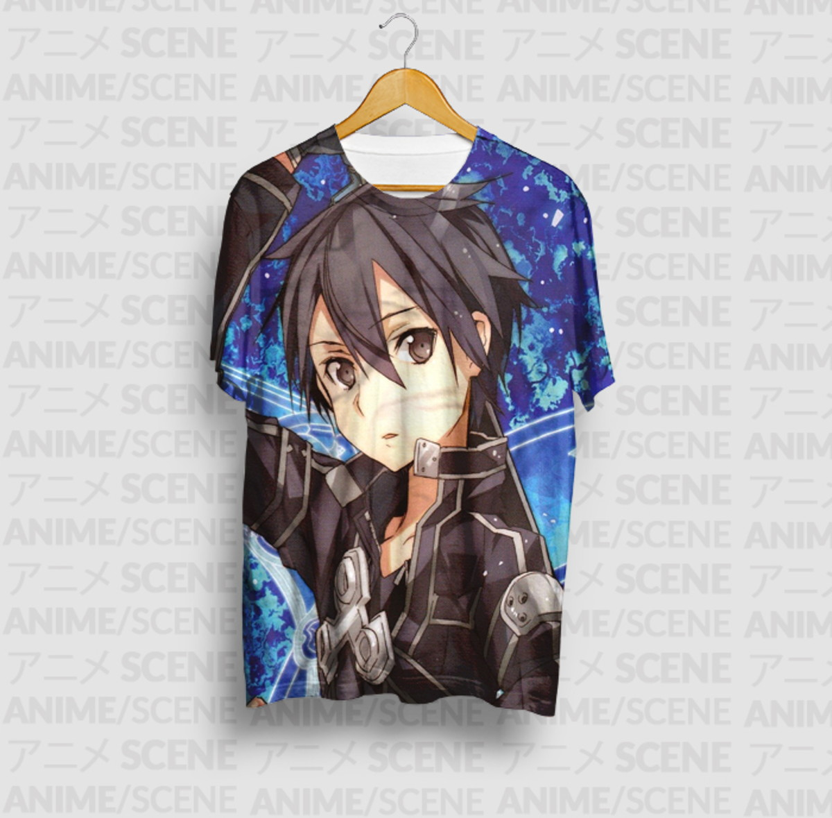 5cb8316b3 Camiseta Kirito 2 -Sword Art Online no Elo7