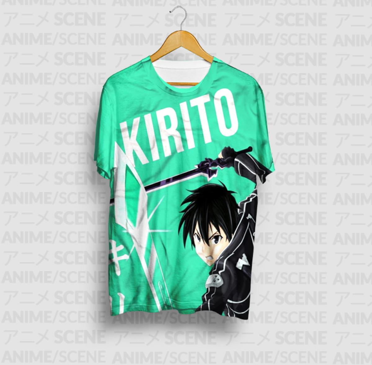 1bf2f9a64 Camiseta Kirito Name - Sword Art Online no Elo7