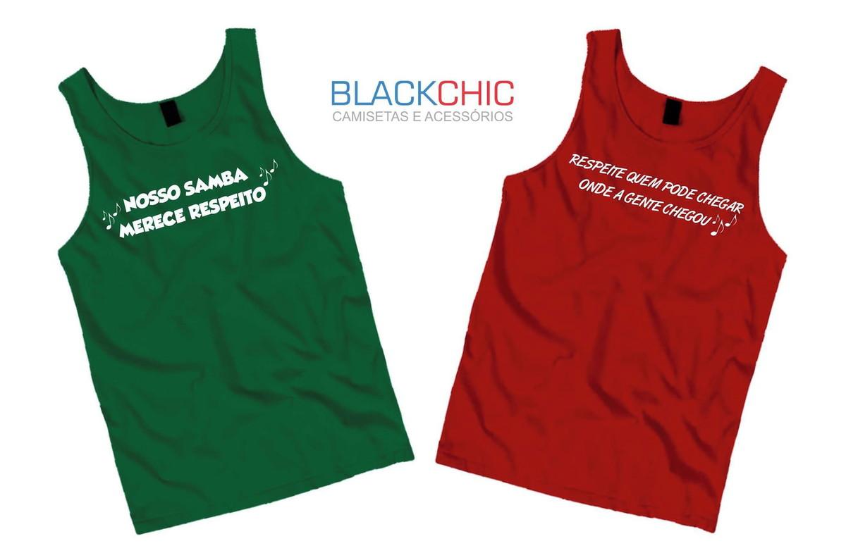 Kit Com 2 Camisetas Regatas Samba + Brinde no Elo7  e749eda8a75