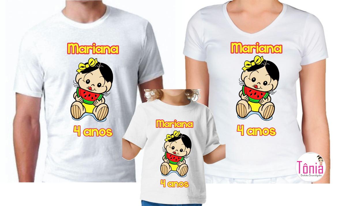 3b6d2a42c Magali baby camiseta personalizada nome e idade no Elo7