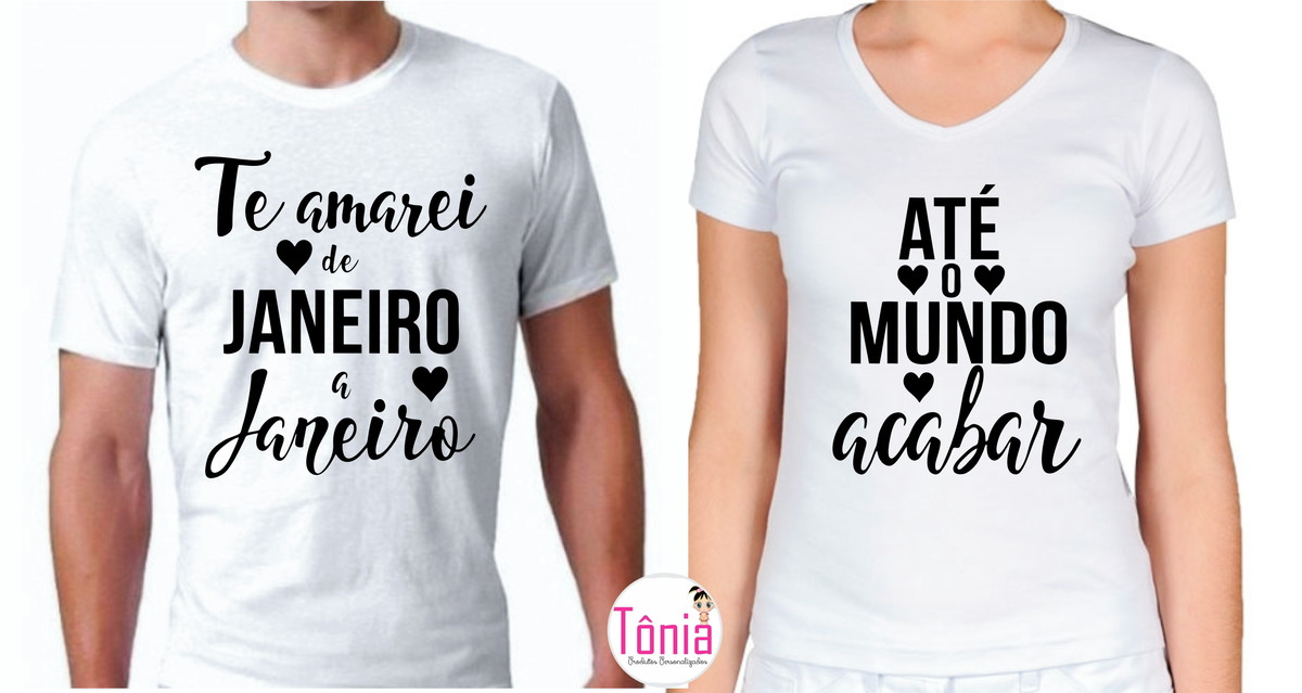 Camisa Para Casal Amor Namorados Te Amarei No Elo7 Tônia