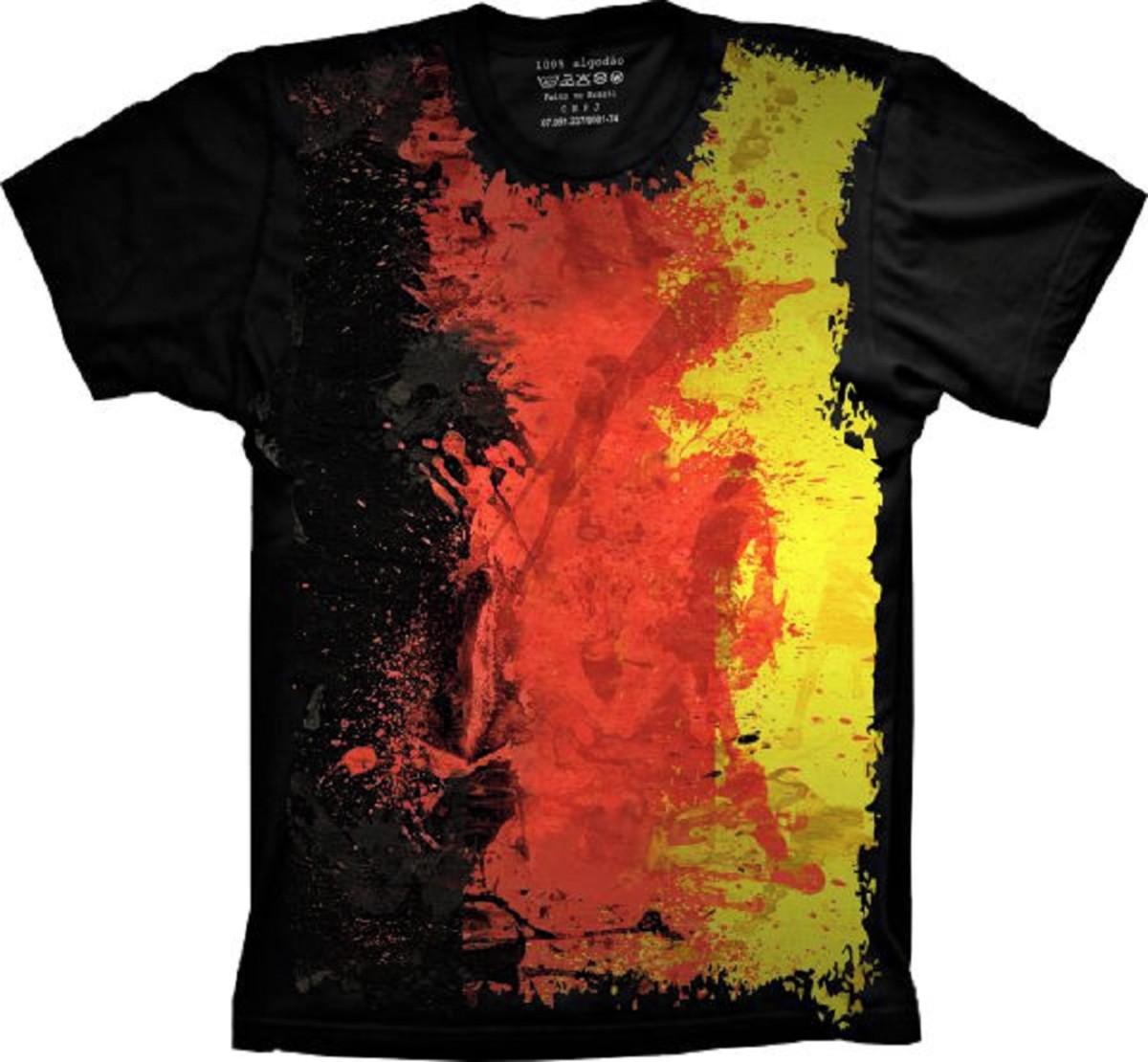 Camiseta Bandeira Alemanha no Elo7  75b9374af6504