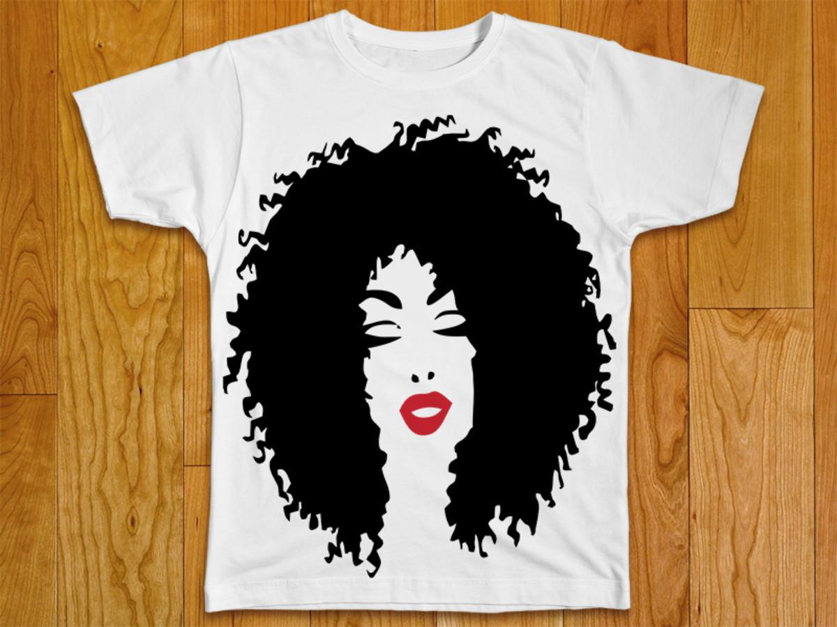 bce592dc8b Camiseta Feminina Afro no Elo7