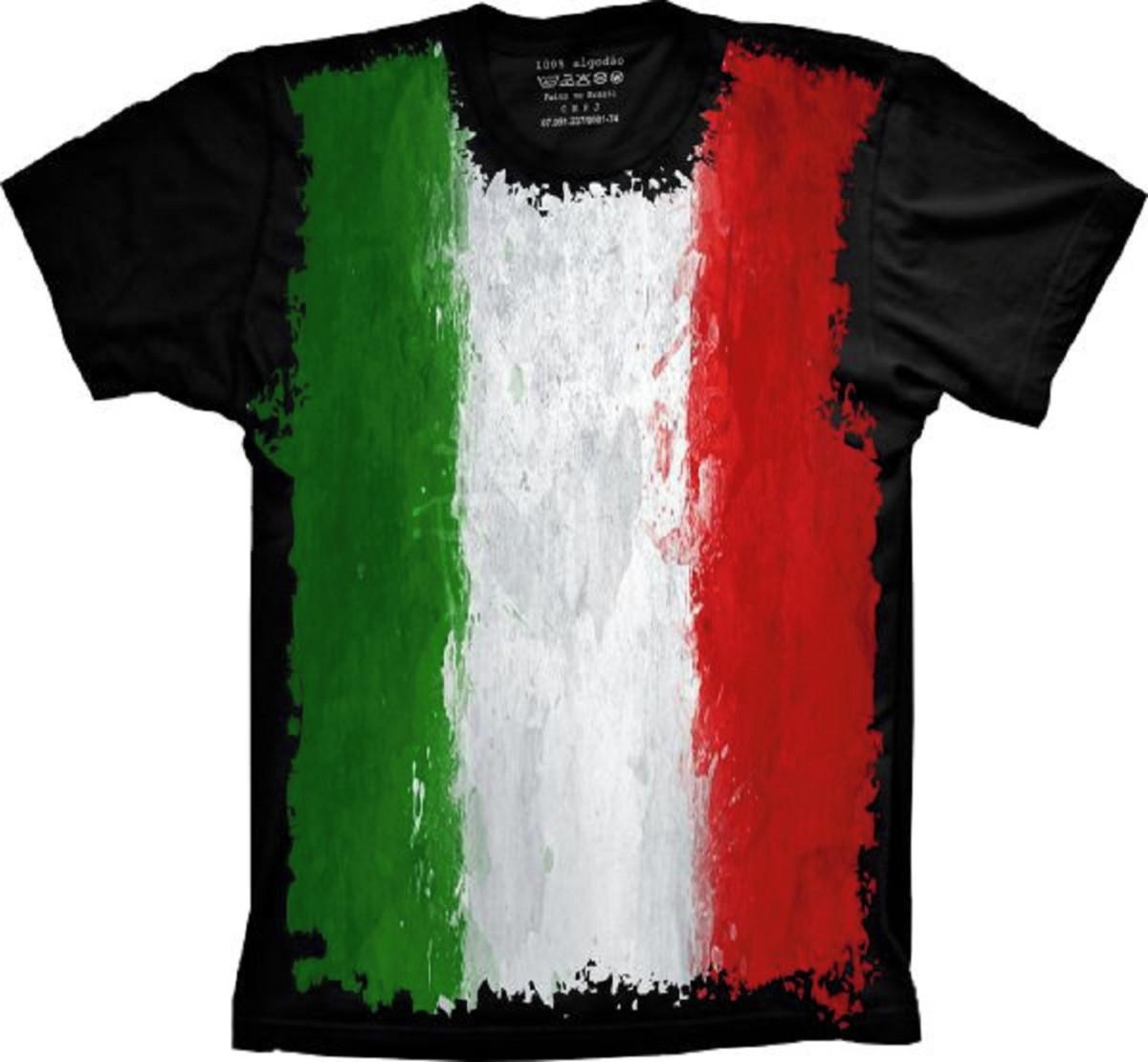 Camiseta Bandeira Itália S-05 no Elo7  08cc0185de4c4