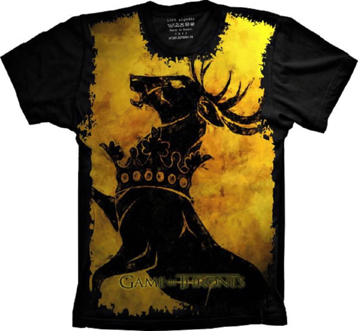 7233dee0f Camiseta Game Of Thrones Westeros no Elo7