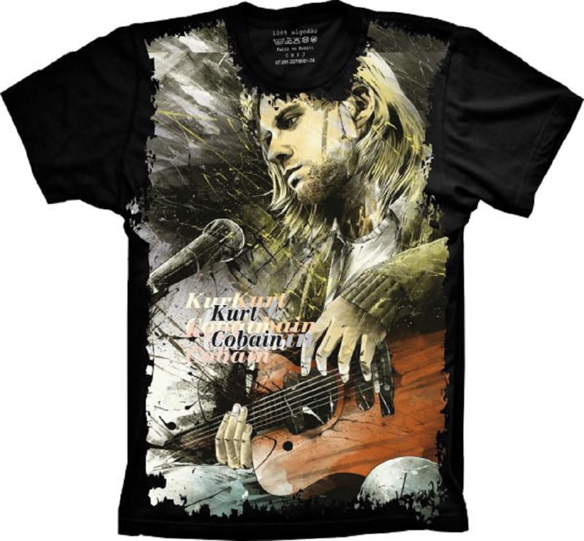 Camiseta Banda Nirvana Kurt Cobain no Elo7  2c41be19227
