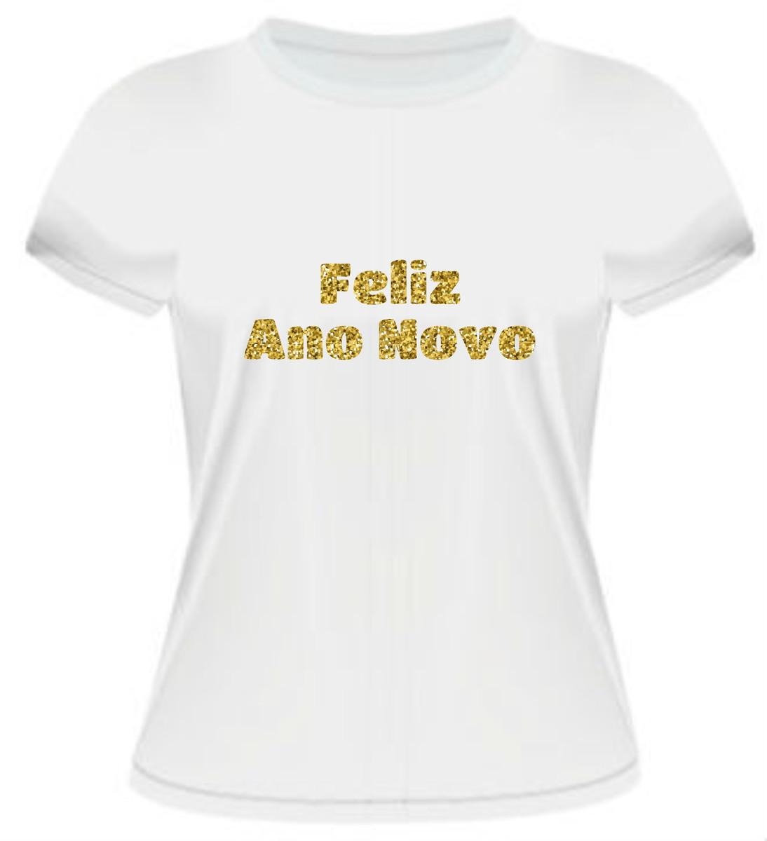 f4918ed1de Zoom · Camiseta Ano Novo Dourado
