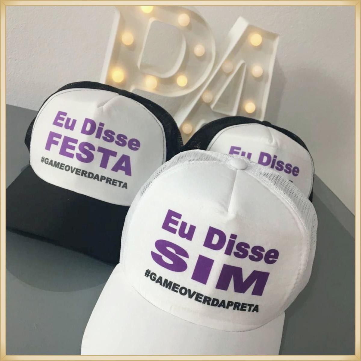 Bonés personalizados para noivos e festa de casamento no Elo7 ... f38edce680c