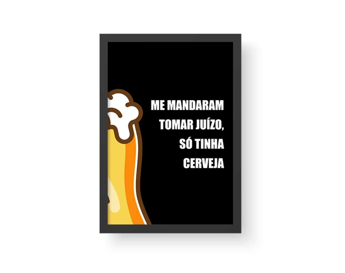 Quadro Cerveja 10 Frase Cerveja A3