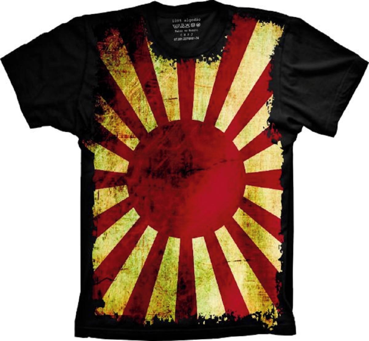 Camiseta Bandeira Japão S-41 no Elo7  fb5f8fd074189