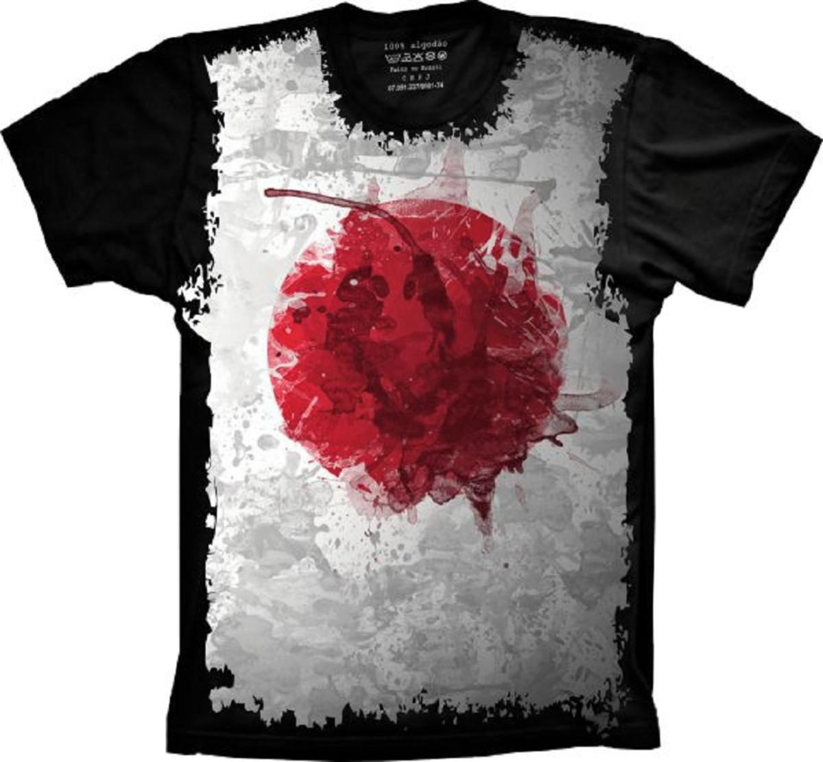 Camiseta Bandeira Japão no Elo7  a9e26951ca3b0