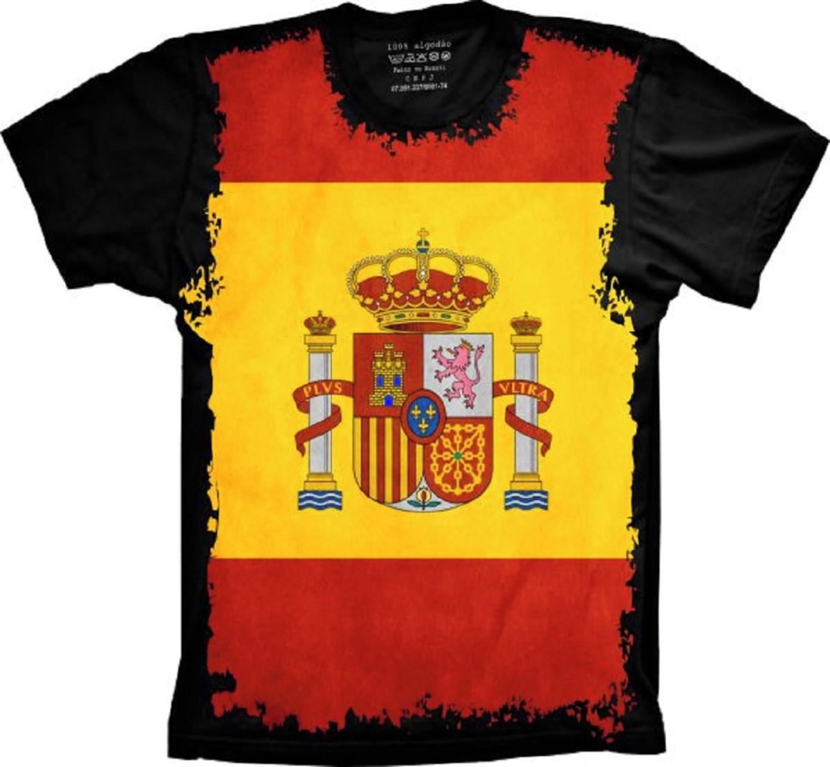 Camiseta Bandeira Espanha S-46 no Elo7  d6899619adeb7