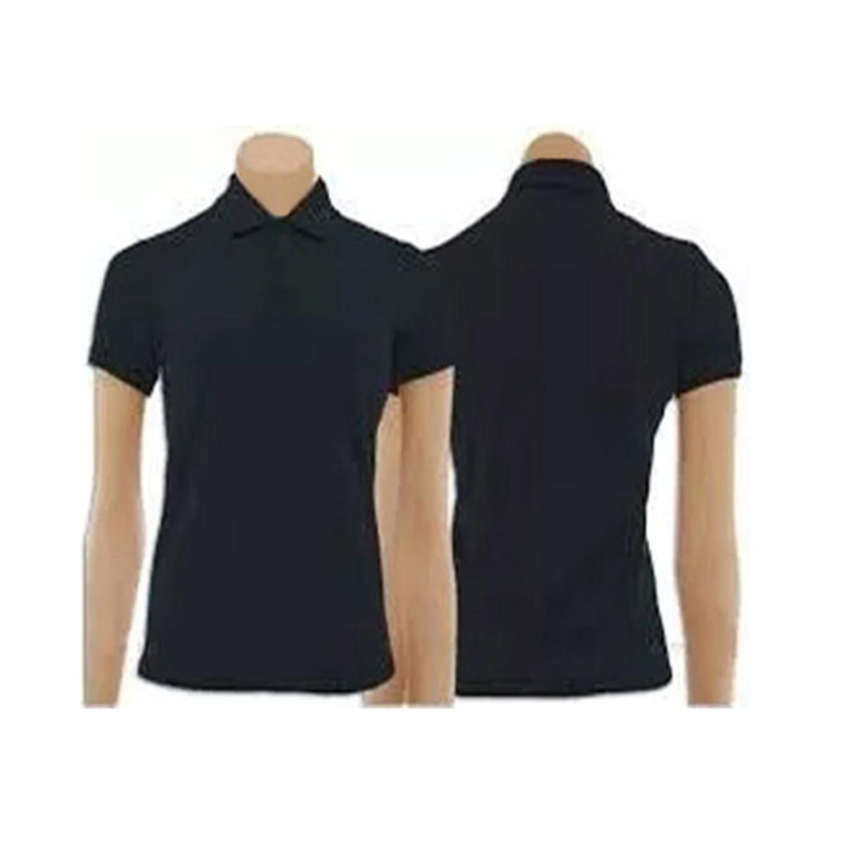 dff2d2224d Kit com 5 Camisetas Gola Polo Feminino Preta no Elo7