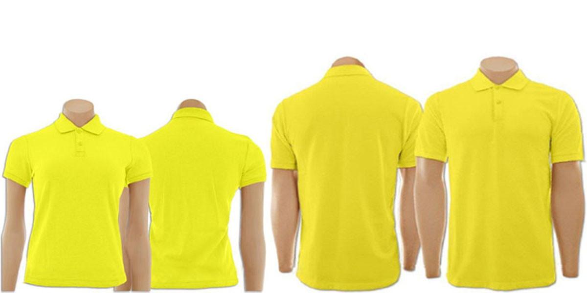 9fb20b429d Kit Camisetas Gola Polo Amarelo Masculino e Feminino no Elo7 ...
