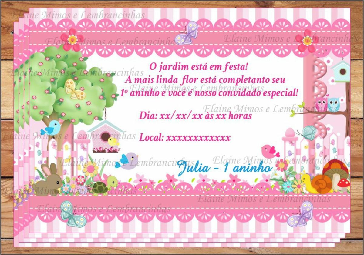 Convite Digital Jardim Encantado No Elo7 Mimos E Lembrancinhas