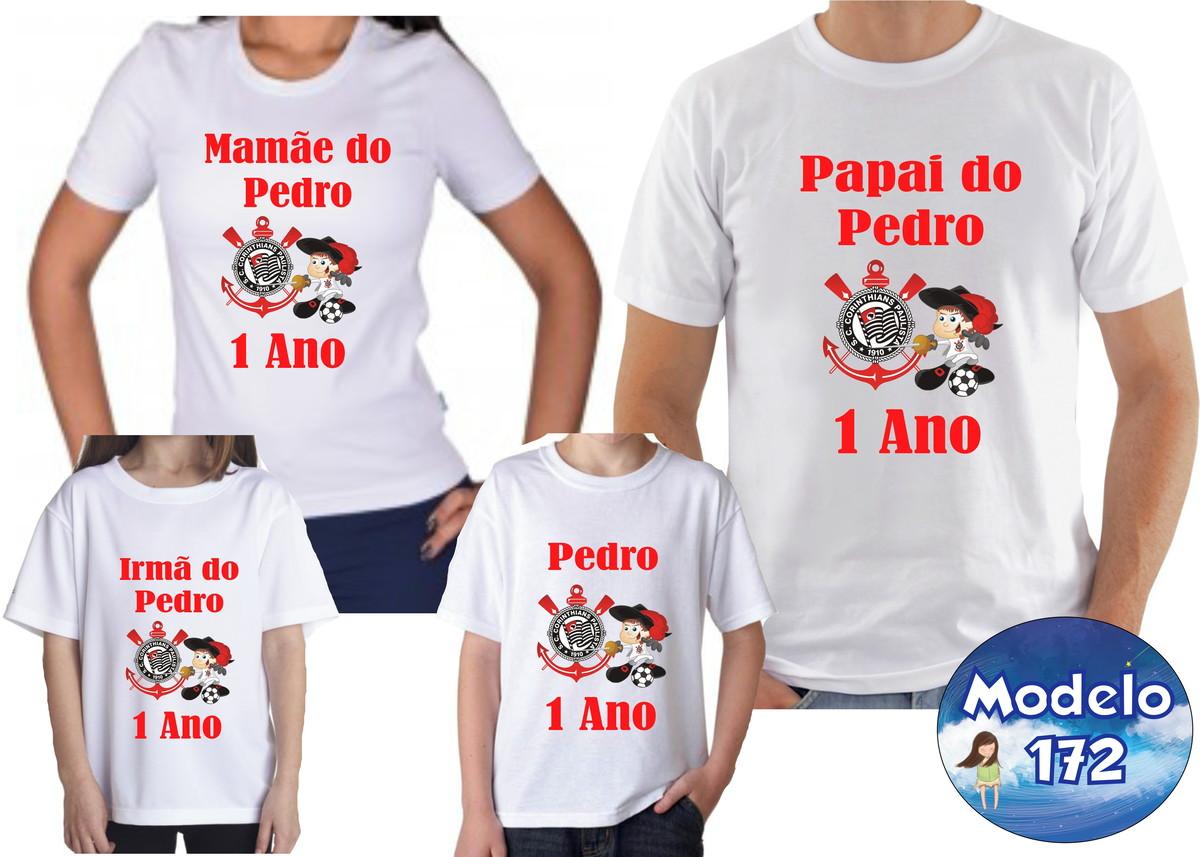 52769a5833 Camiseta Aniversário Futebol Time Com 4 no Elo7