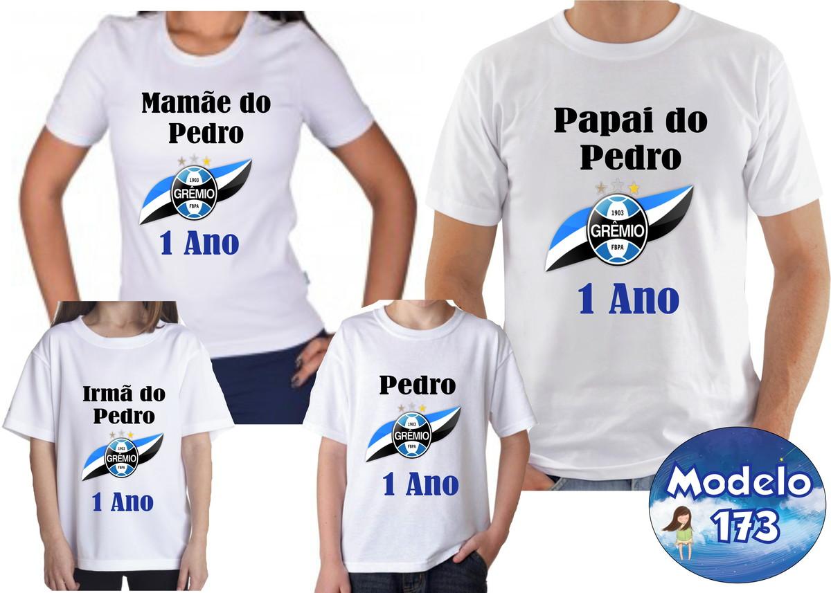 8fa98ee384 Camiseta Aniversário Time Futebol Com 4 no Elo7