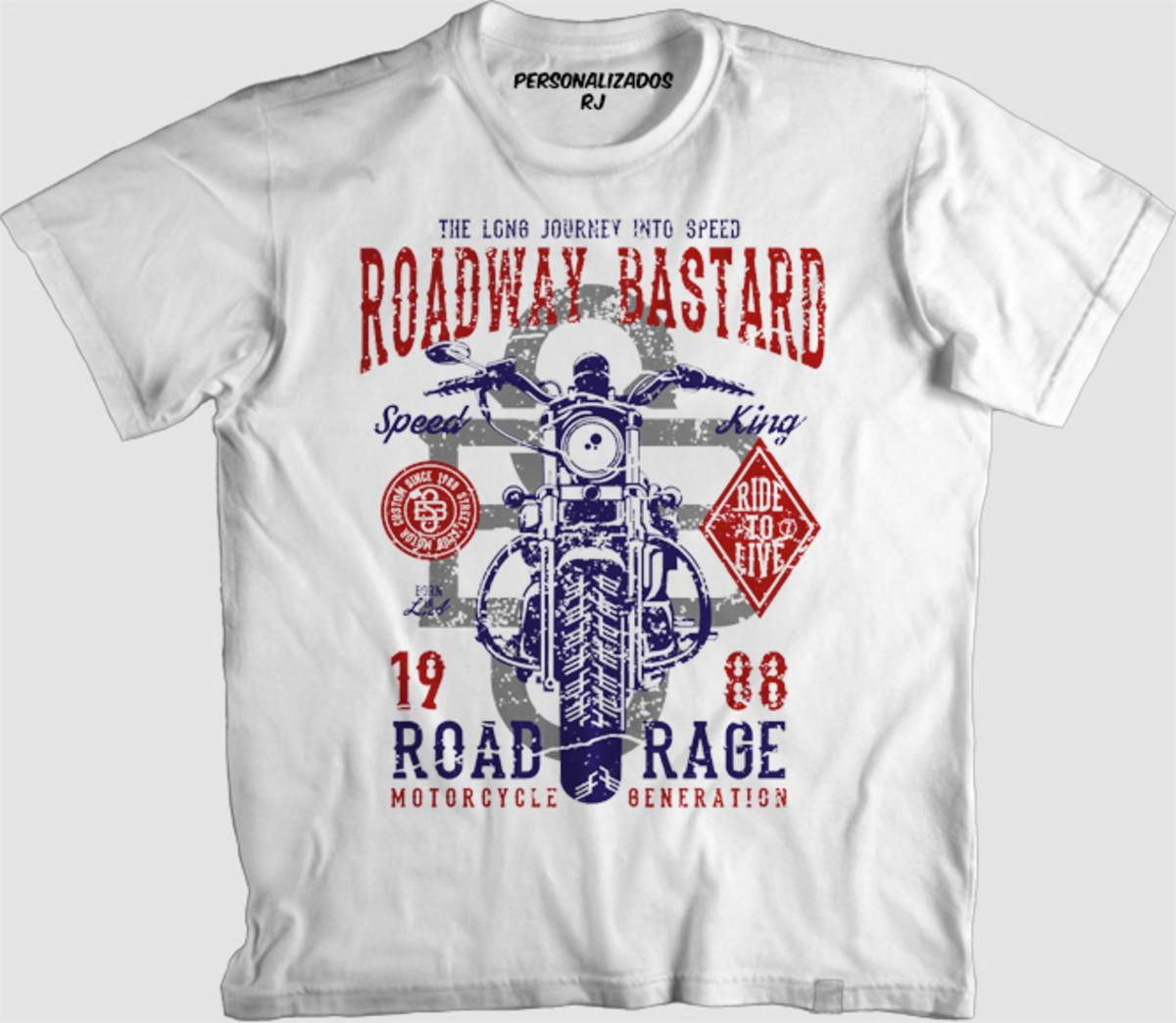 Camisa MOTO - ROADWAY BASTARD no Elo7  0edc4d3eca1